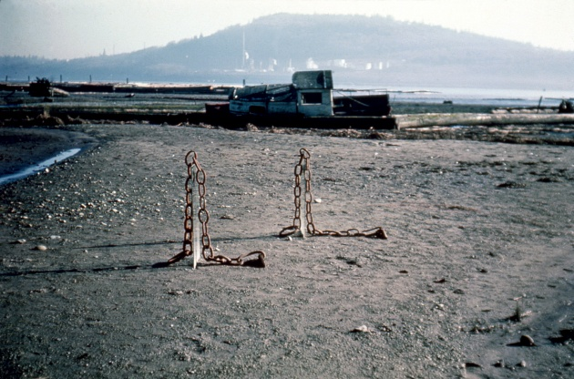 Tom Burrows, Untitled Sculpture installed in Maplewood Mud Flats, 1971
